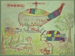 This is an example of one of the drawings by the children