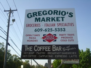 Outside of Gregorio's Market in Mays Landing