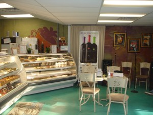 A shot of the bakery/cafe before the open mic started