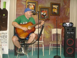 Marcos Aponte playing guitar