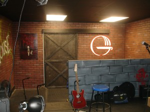 The Ground House's stage, complete with brick walling!