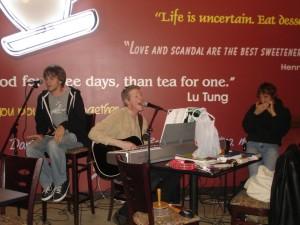 Stan Schwertly, Jeff Conoway, and friend on Harmonica!